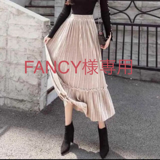 dholic - フリルラインベロアプリーツスカート