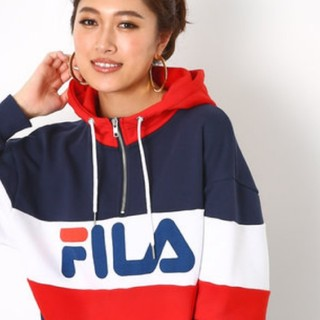 RODEO CROWNS WIDE BOWL - FILA×PEACコラボジップパーカー&スウェットスカート上下セット
