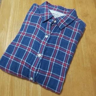 MUJI (無印良品) - 無印良品  ダブルガーゼチェックシャツ