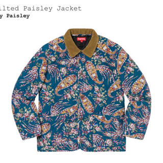 Supreme - Quilted Paisley Jacket navy Paisley mサイズ