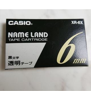 カシオ(CASIO)の★純正★テープ 6mm XR-6X 透明に黒文字 カシオ ネームランド(テープ/マスキングテープ)