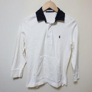 Ralph Lauren - ラルフローレン オフホワイト×ネイビー ポロシャツ Y405