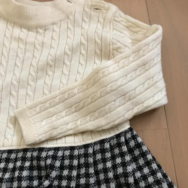 mikihouse(ミキハウス)のミキハウス ワンピース 90 キッズ/ベビー/マタニティのキッズ服 女の子用(90cm~)(ワンピース)の商品写真