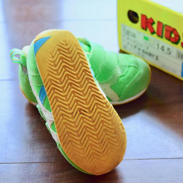 asics(アシックス)のASICS アシックス スニーカー 14.5cm ライムグリーン キッズ/ベビー/マタニティのキッズ靴/シューズ (15cm~)(スニーカー)の商品写真
