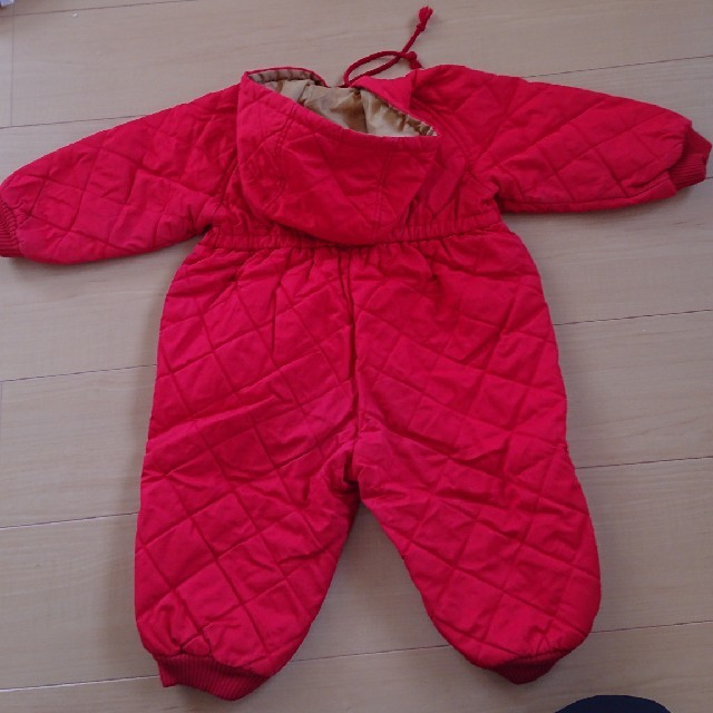 familiar(ファミリア)のfamiliar 冬用アウターつなぎ サイズ90 キッズ/ベビー/マタニティのキッズ服 女の子用(90cm~)(ジャケット/上着)の商品写真