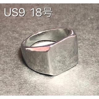 ★新品 印台 シルバーリング鏡面 スクエア 男性 リング 指輪(リング(指輪))