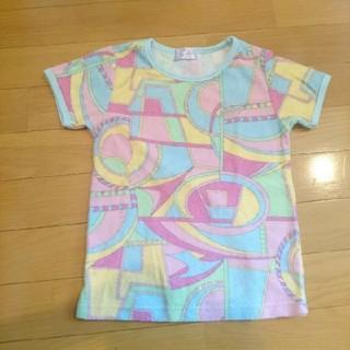 レディー(Rady)のちびRady 遊園地マーブル Tシャツ S(Tシャツ/カットソー)
