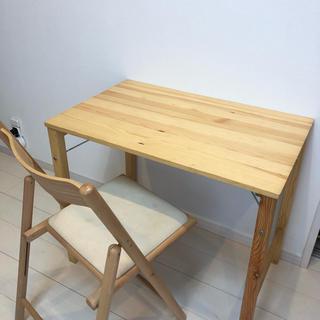 ムジルシリョウヒン(MUJI (無印良品))の無印良品 折りたたみ テーブル 椅子 チェア セット(折たたみテーブル)