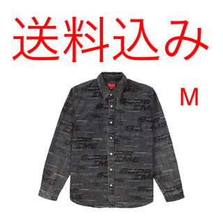 シュプリーム(Supreme)のSUPREME Dimensions Logo Denim Shirt M 黒(シャツ)