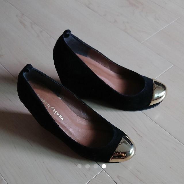 vanitybeauty(バニティービューティー)のスエード素材 ウェッジヒール ストラップ付き 23センチ レディースの靴/シューズ(ハイヒール/パンプス)の商品写真