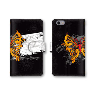 蝶々 お洒落 スマホケース 送料無料 手帳型ケース カバー 選べる鏡 バタフライ