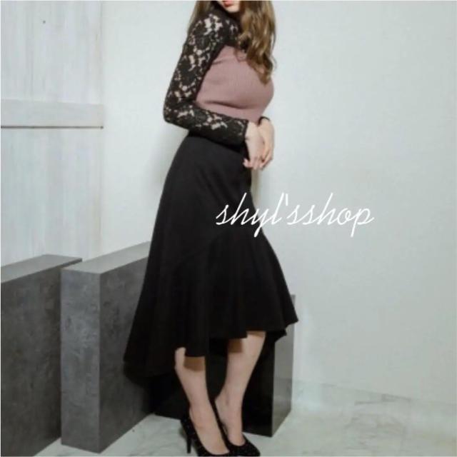 LIP SERVICE(リップサービス)のリップサービス アシメスカート レディースのスカート(ひざ丈スカート)の商品写真