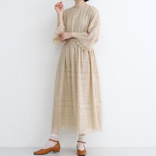 メルロー(merlot)の完売品 総レースワンピース フランジフラワー ドレス ワンピース(ロングドレス)
