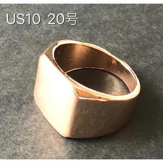 ★新品 印台 ゴールドリング 鏡面 スクエア 男性 リング 指輪