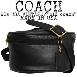COACH - 美品★COACH★オールド コーチ★90s★ショルダーバッグ★USA製★ブラック