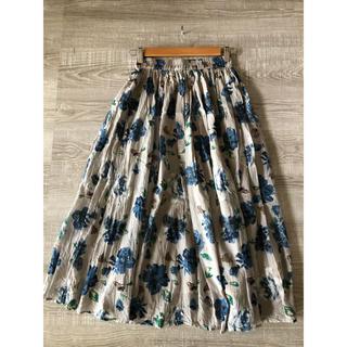 SM2 - SM2 blue 花柄スカート