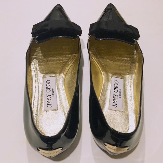 JIMMY CHOO(ジミーチュウ)のJIMMY CHOO ジミーチュウ フラットシューズ  GALA 38 レディースの靴/シューズ(ハイヒール/パンプス)の商品写真
