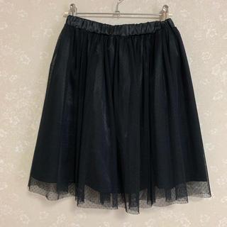 ハニーズ(HONEYS)のチュールスカート ブラック(ひざ丈スカート)