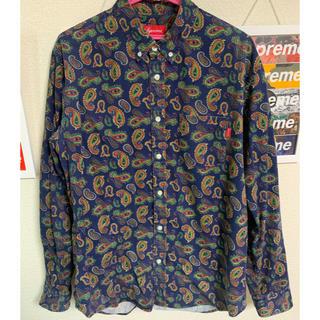 Supreme - Supreme Paisley Shirt ネイビー Lサイズ