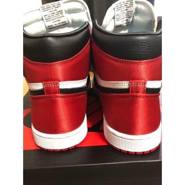 Jordan 1 Retro High OG Satin Black Toe レディースの靴/シューズ(スニーカー)の商品写真
