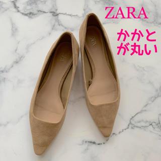ZARA - 【ZARA】フラットパンプス*ポインテッドトゥ*スエード