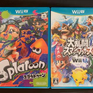 ウィーユー(Wii U)のスマブラfor WiiUスプラトゥーン WiiU 2本セット バラ不可(家庭用ゲームソフト)