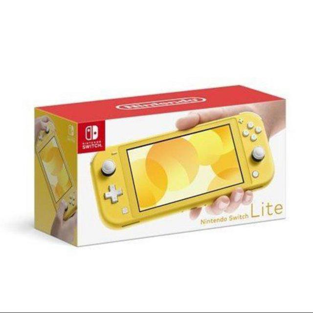Nintendo Switch(ニンテンドースイッチ)の新品】ニンテンドースイッチライト イエロー エンタメ/ホビーのゲームソフト/ゲーム機本体(家庭用ゲーム機本体)の商品写真