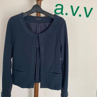 a.v.v - ノーカラージャケット a.v.v アーべーべー
