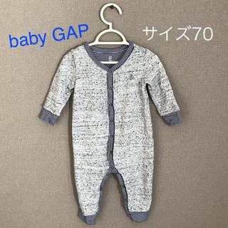 babyGAP - baby GAP ブラナンベア ボディオール 70 グレーストライプ