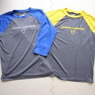 アンダーアーマー(UNDER ARMOUR)のアンダーアーマー150cmヒートギア七分袖Tシャツ二枚セット/長袖(Tシャツ/カットソー)
