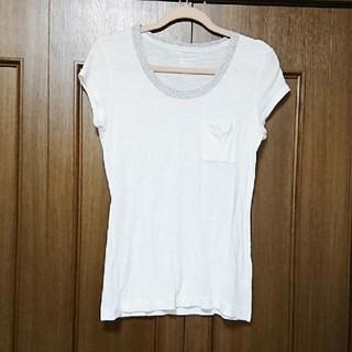 カルバンクライン(Calvin Klein)のCalvin Klein Tシャツ ホワイト シルバー Mサイズ(Tシャツ/カットソー(半袖/袖なし))