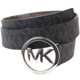 マイケルコース(Michael Kors)の人気 ハイブランド マイケルコース MK ロゴ モノグラム 黒 ブラック ベルト(ベルト)