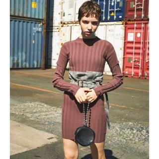アリシアスタン(ALEXIA STAM)のjuemi Layered Box Knit Dress(ミニワンピース)