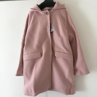 SHIPS - シップス HAMILTON2WAYノーカラーフードコート ピンク コート