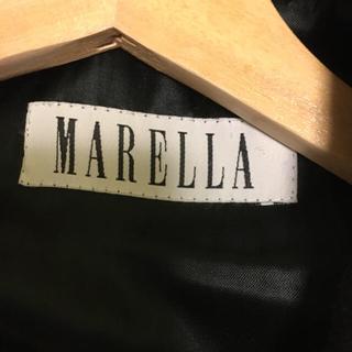 マックスマーラ(Max Mara)のマレーラ byマックスマーラ 黒 バージンウール(ロングコート)