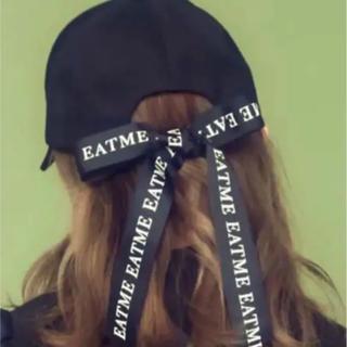 イートミー(EATME)の【新品】EATME BACKロゴリボンキャップ(キャップ)