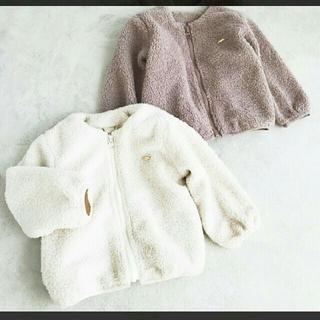 petit main - プティマイン ボアフルジップジャケット