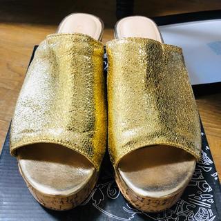 gallerie tokyo コルクサンダル 24.0 箱付き(サンダル)