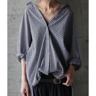 antiqua - antiqua☆ギンガムチェックワイドシャツ