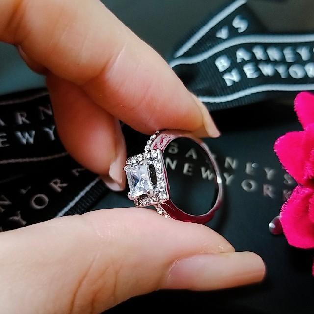 BARNEYS NEW YORK(バーニーズニューヨーク)のバーニーズニューヨーク【新品】14K コーティング スクエアカットリング  レディースのアクセサリー(リング(指輪))の商品写真