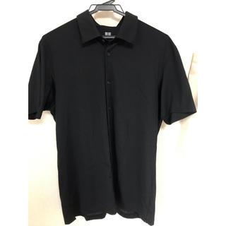UNIQLO - UNIQLO エアリズム素材 半袖シャツ 黒