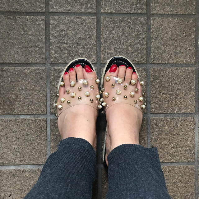 GRL(グレイル)のパールクリアサンダル レディースの靴/シューズ(サンダル)の商品写真