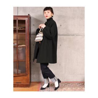 Dot&Stripes CHILDWOMAN - スーパー100S モッサ加工 ボトルネックハーフ丈コート