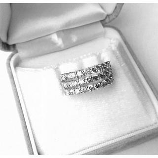 お値下げ!!《新品・未使用》 2.00ct K18WG ダイヤモンドリング(リング(指輪))