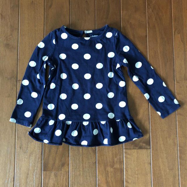 babyGAP(ベビーギャップ)のbabyGap♡ドットペプラムトップス95センチ キッズ/ベビー/マタニティのキッズ服 女の子用(90cm~)(Tシャツ/カットソー)の商品写真