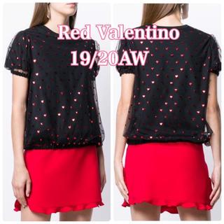 RED VALENTINO - 新品未使用◆4.0万 新作19AW☆RED VALENTINO ハートTシャツM
