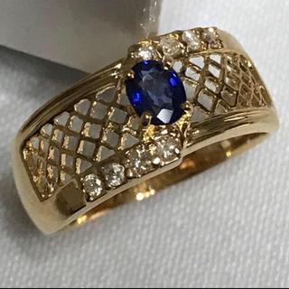 ブルーサファイア K18 7号(リング(指輪))