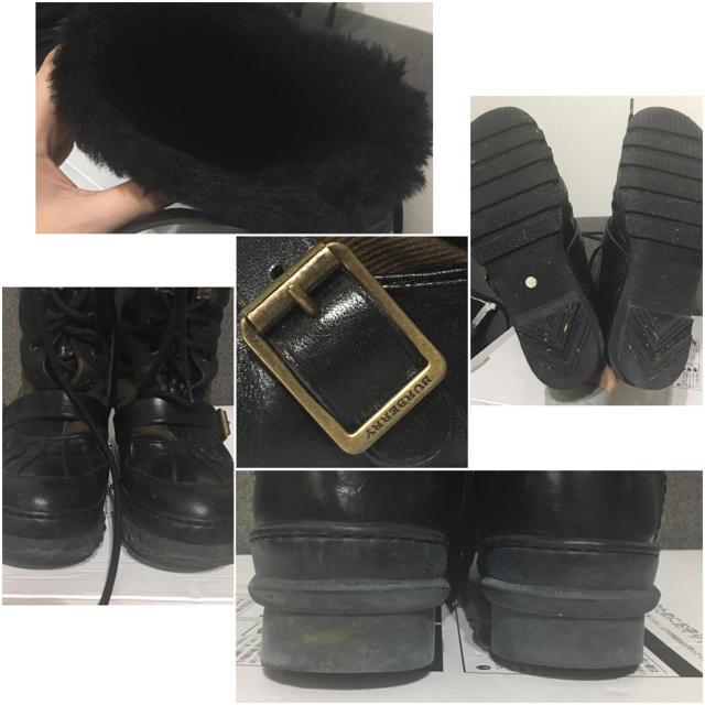 BURBERRY(バーバリー)のBurberry バーバリー 編み上げブーツ 大きめサイズ チェック柄  レディースの靴/シューズ(ブーツ)の商品写真