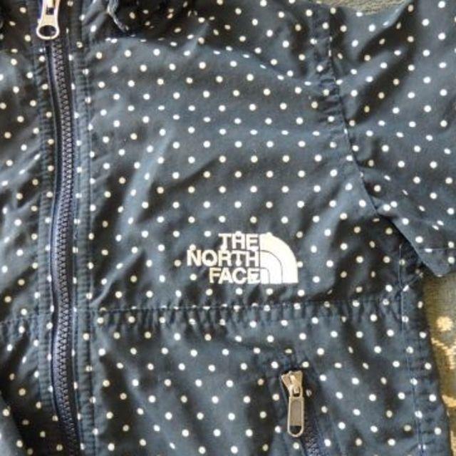 THE NORTH FACE(ザノースフェイス)のrr様専用!ノースフェイス 水玉アウター 90サイズ キッズ/ベビー/マタニティのキッズ服 女の子用(90cm~)(ジャケット/上着)の商品写真