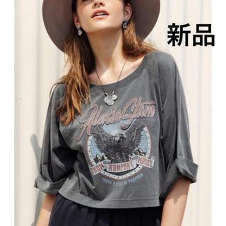 ALEXIA STAM - 【新品・未使用】2019 新作 ヴィンテージ グラフィック Tシャツ チャコール